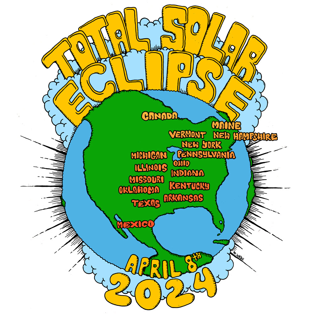 2024 Total Solar Eclipse Shirt With Usa Totality Path Map Radcakes
