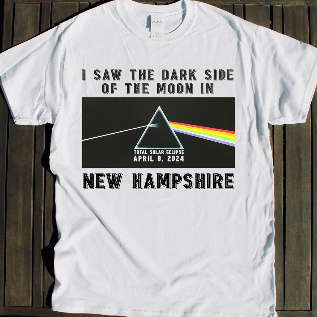 New Hampshire Solar Eclipse shirt 2024 event Dark Side of the Moon viewing party tshirt