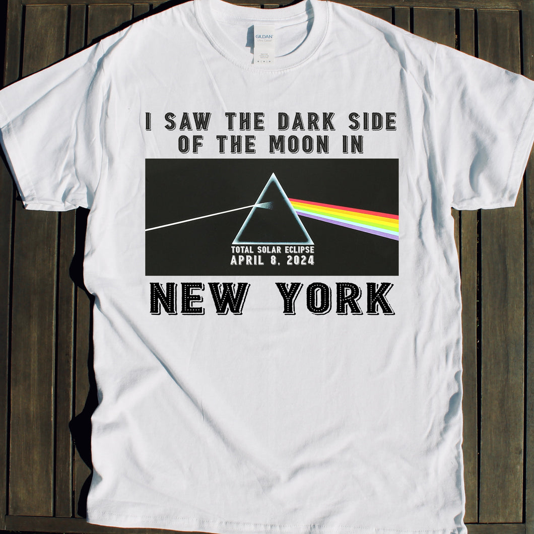 2024 Total Solar Eclipse shirt New York Dark Side of the Moon tshirt souvenir NYC viewing party sale