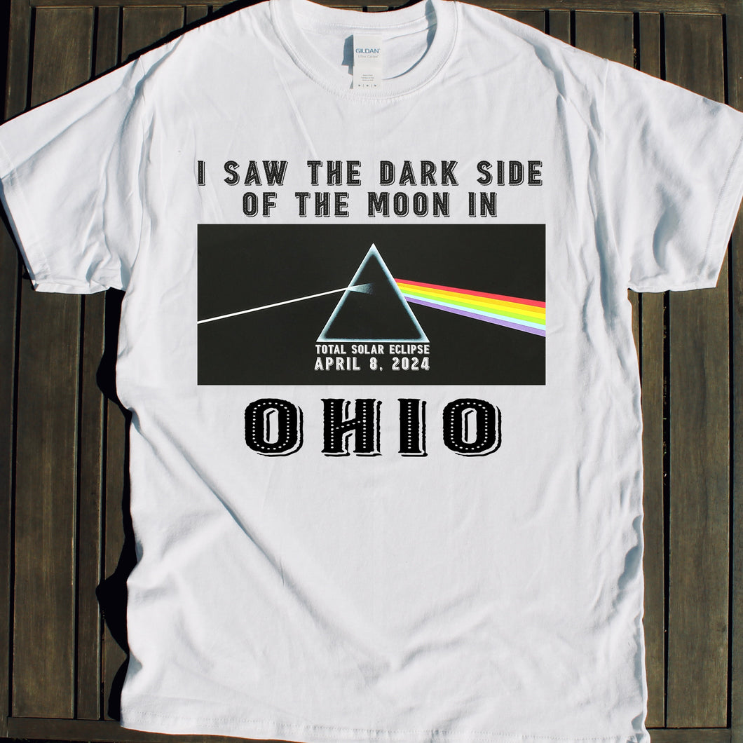 Dark Side of the Moon Total Solar Eclipse shirt for Ohio viewing party Official 2024 Eclipse design