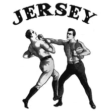 Funny NJ Pork Roll tshirt by RadCakes.com with old timey men boxing
