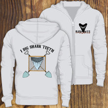 I Dig Shark Teeth Fossil Hunter design zip up hoodie sweatshirt