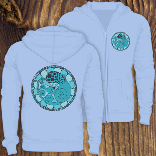 Art Nouveau Octopus zip up hoodie sweatshirt