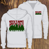 Devil's Path hiking trail sweatshirt design by RadCakes, Catskills, NY
