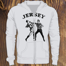 Funny New Jersey Pork Roll Sweatshirt by RADCAKES.com with old fashioned men boxing