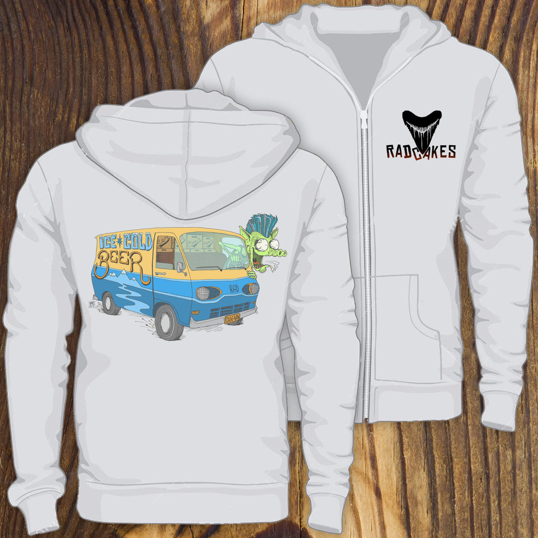 Old Ford Van artwork rat rod sweatshirt by RadCakes custom printing NJ