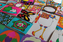 Deadstock wholesale vintage cards lot hippy Peter max ephemera designs
