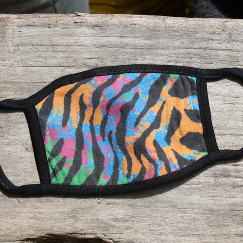 80's Tiger Pattern Face Mask (Child & Adult sizes)