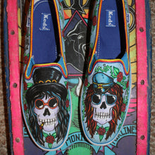 Guns n Roses custom designed Vans classic slip on shoes Slash Axel Rose art