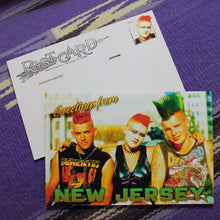 Greetings from New Jersey postcard vintage punks funny NJ punk rock card