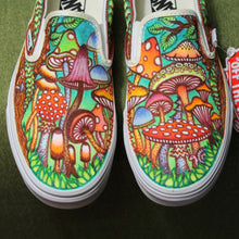Mushroom themed custom Vans Slip On Sneakers