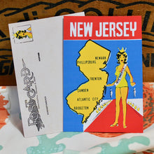retro New Jersey postcard for sale by hammerhead press Manasquan NJ vintage style