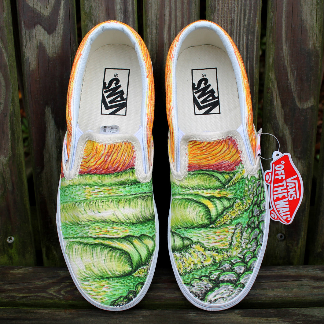 custom surfing vans sneakers by radcakes art and design Manasquan new jersey