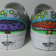 Mushroom themed custom Vans Slip On Sneakers - RadCakes Shirt Printing