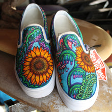 flower custom designed vans