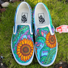 retro flower patterned custom designed vans by Lauren Dalrymple Wade RADCAKES