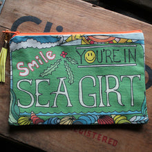 """Smile, You're in Sea Girt"" clutch bag - RadCakes Shirt Printing"