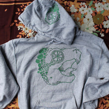 Grey Snapping Turtle hooded sweatshirt