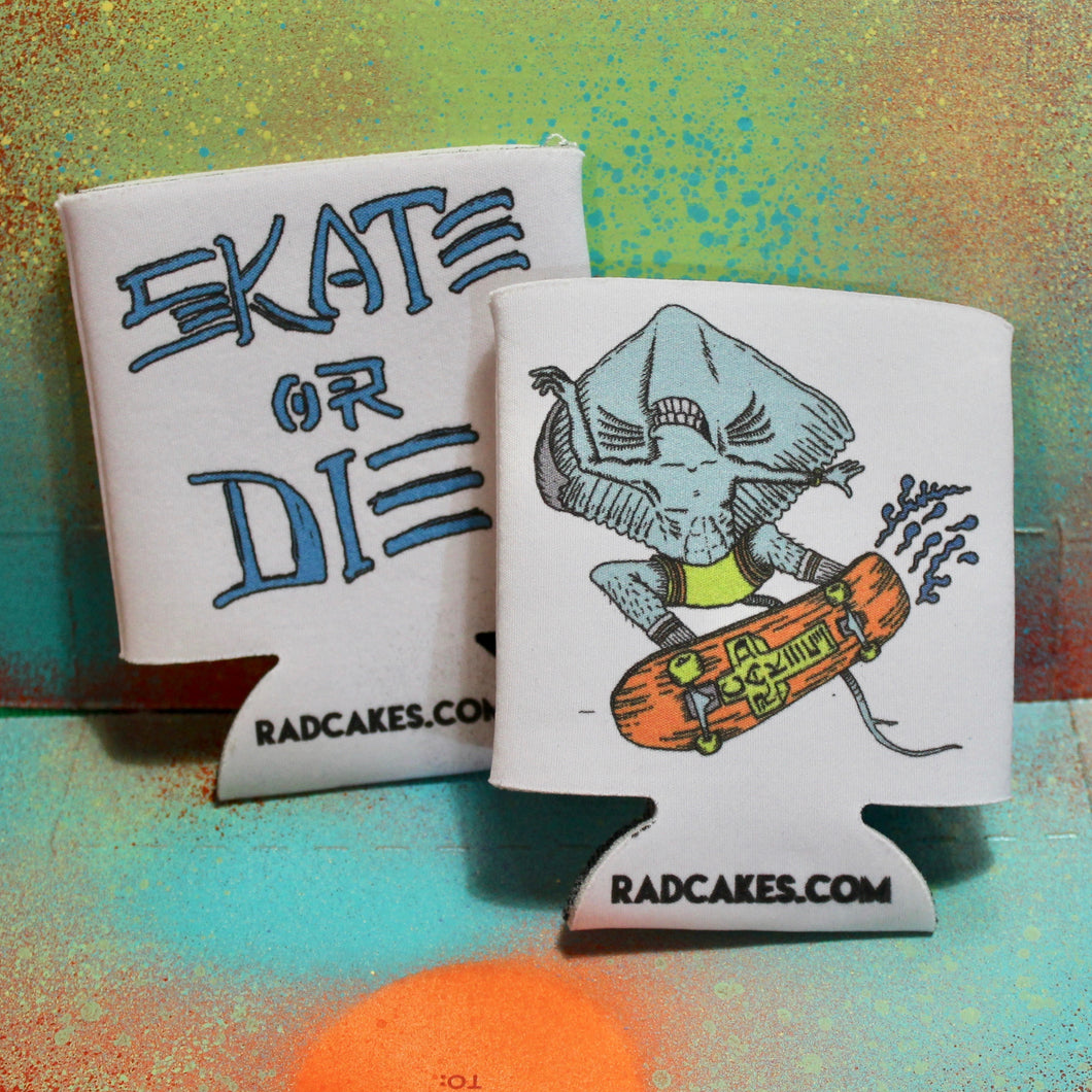 skate or die design beer koozie collector for sale