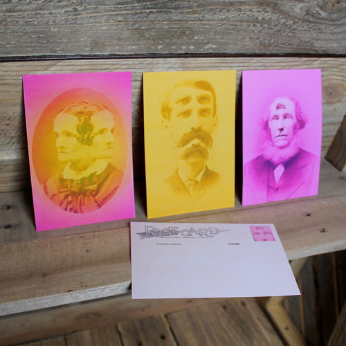 Set of 3 Cabinet Card postcards