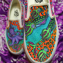 Octopus / Cephalopod custom Vans Slip On Sneakers