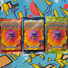 Psychedelic Republicans trading cards for sale at radcakes.com trippy political cartoons 2020 election