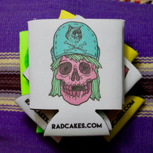 Cat Hat Skull koozie
