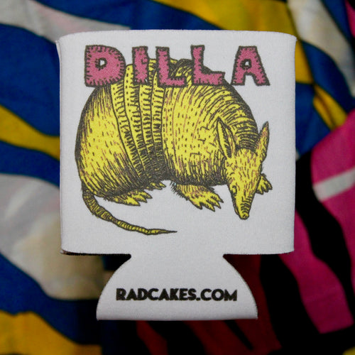 armadillo art design beer koozie TEXAS tailgate party favors