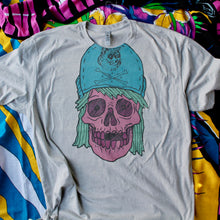 large skull shirt with suicidal tendencies hat 1980s 1990s flip brim