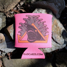 hot pink 1980s shark beer koozie natas panther