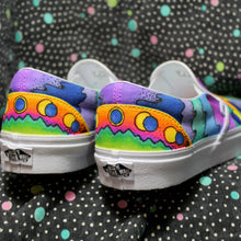 Peter Max style sneakers Custom Vans shoes for sale HAND DRAWN ART
