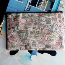 Antique Paris Map print clutch bag - RadCakes Shirt Printing