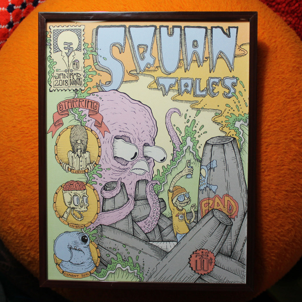 SQUAN TALES #1 limited edition art prints