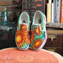 Sunflower custom Vans Slip On Sneakers