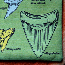 Fossil Shark Tooth Identification clutch bag - RadCakes Shirt Printing