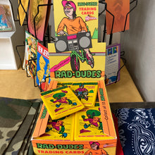 Rad Dudes Trading Cards for sale unopened packs from 1990 vintage neon retro non sport card collection retro