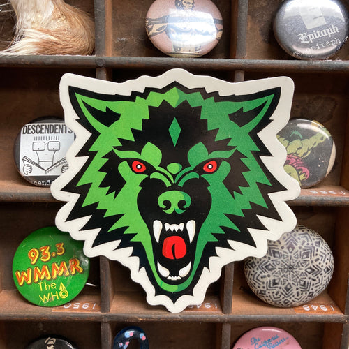 Green Wolf sticker for sale