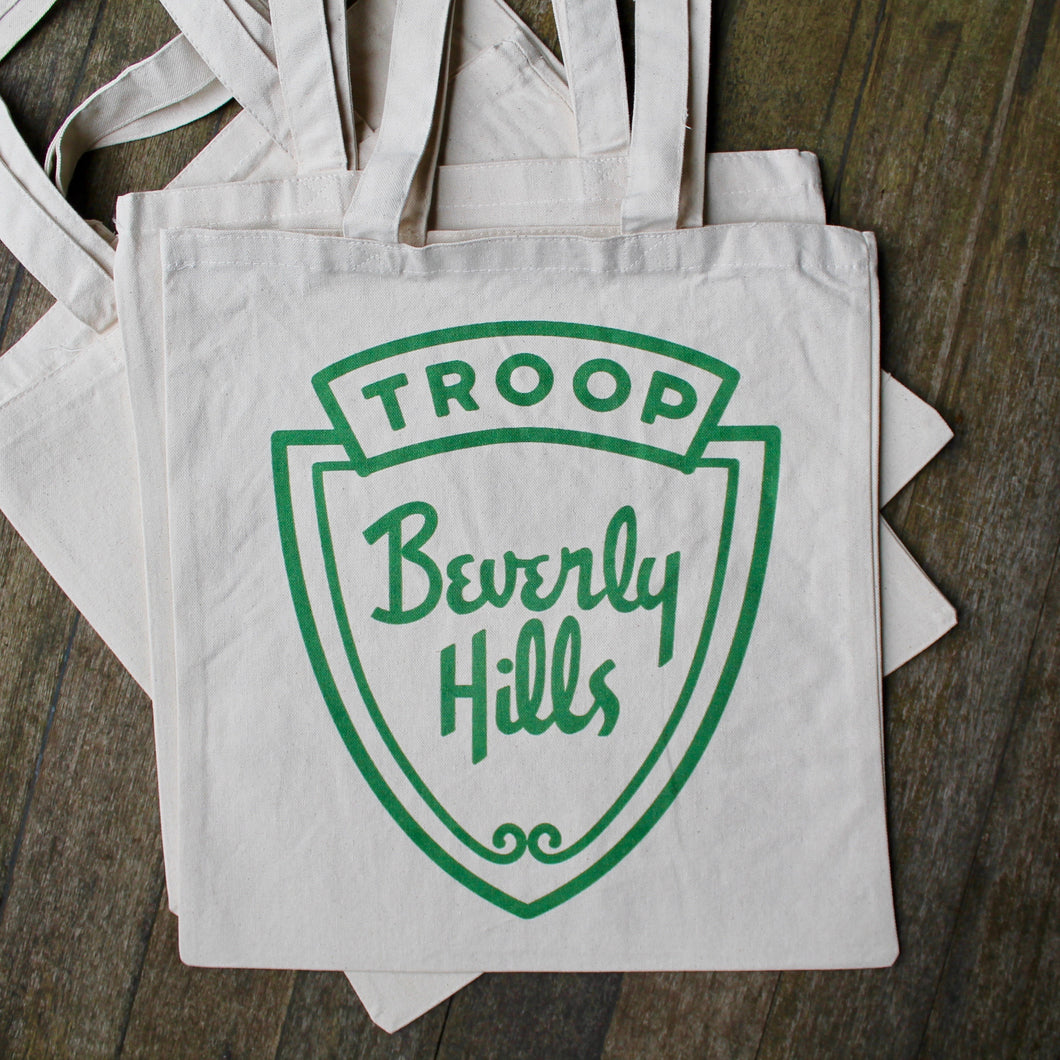 Troop Beverly Hills tote bag for sale funny gift reusable bag save the environment
