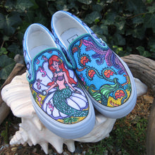 Walt Disney Little Memaid custom designed Vans classic slip on sneakers