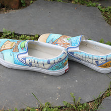 Custom designed San Fran CA and Philly PA Vans sneakers