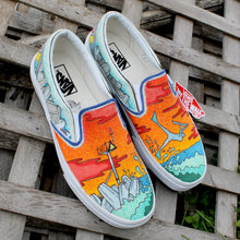 custom bodyboarding artwork Custom designed Vans Classic Slip on shoes
