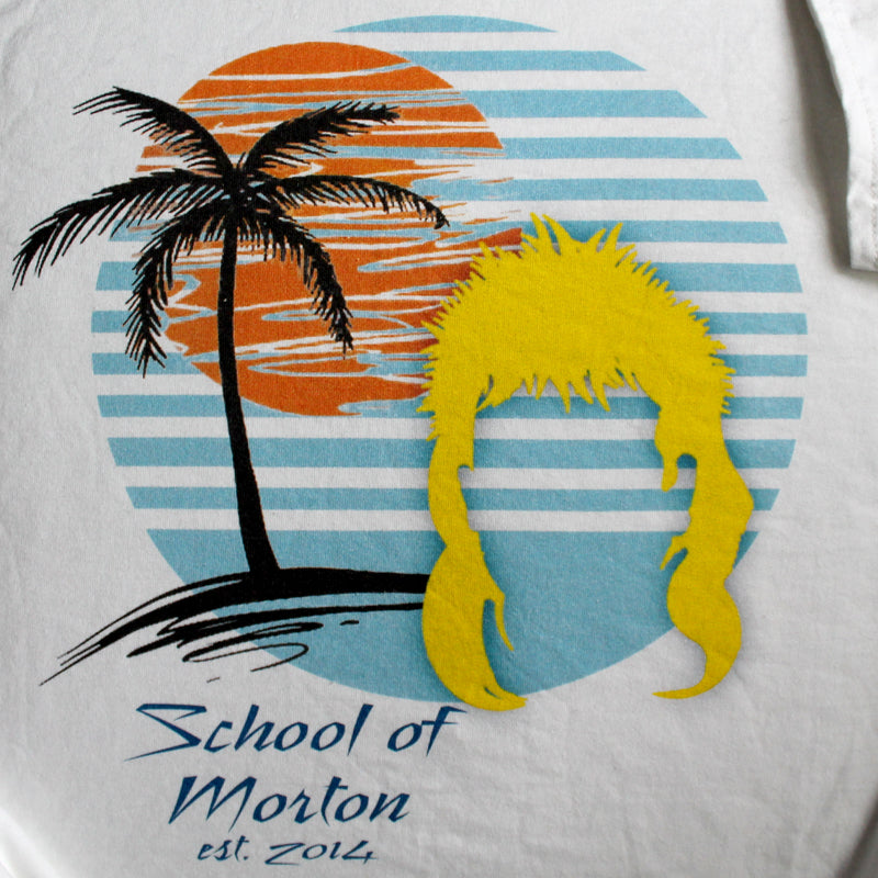 School of Morton shirt / White / Adult LARGE - RadCakes Shirt Printing