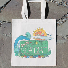 Smile, You're in Sea Girt reusable canvas tote bag