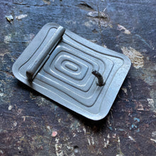 Stamped Enamel belt buckle