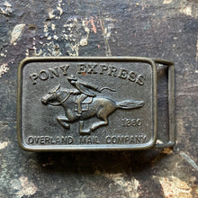 Pony Express belt buckle for sale, the overland mail company 1860 USPS