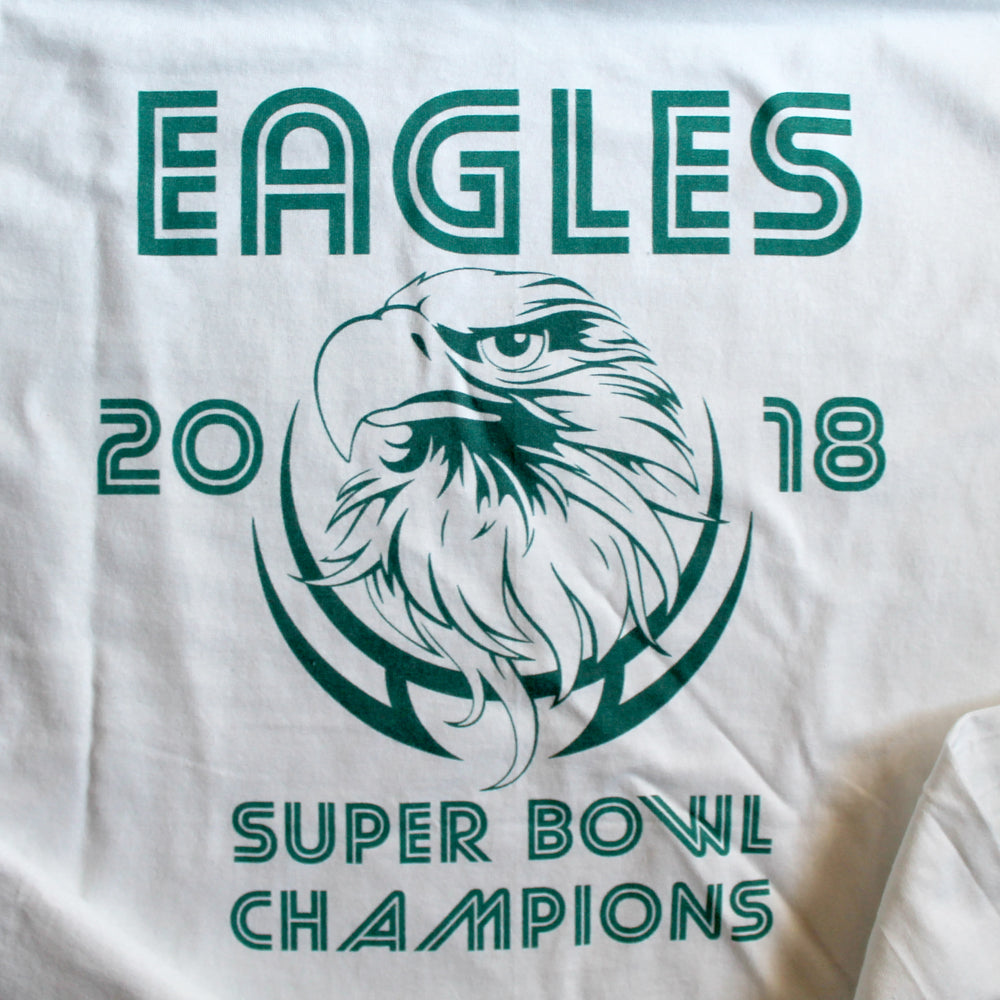 Eagles Championship Shirt / White / MEDIUM - RadCakes Shirt Printing