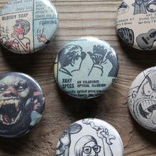 Underground comic art pinback button collectibles by RadCakes