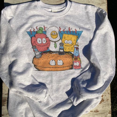 Pork Roll Egg and Cheese sweatshirt for sale NJ Taylor Ham breakfast sandwich New Jersey  design