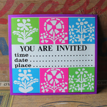 New old stock invitation card by Unicorn Creations and RadCakes