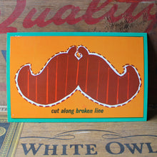 Retro 60's Cut-Out Mustache postcard - RadCakes Shirt Printing